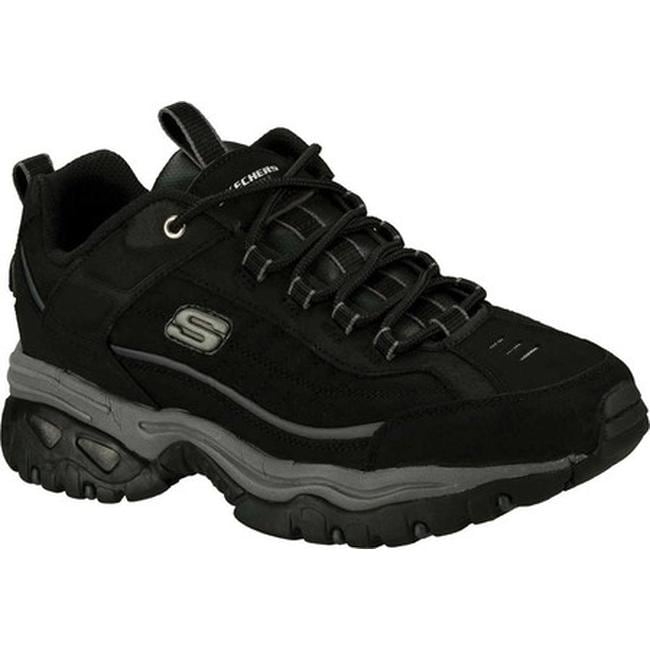 skechers all black shoes