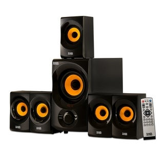 Acoustic Audio AA5170 Home Theater 5.1 Bluetooth Speaker System with FM Tuner