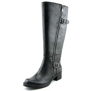 Lucky Brand Hoxy Women  Round Toe Leather Black Knee High Boot