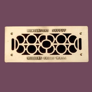 4 Floor Wall Heat Air Grill Vent Grate Solid Brass 4.75 x 11