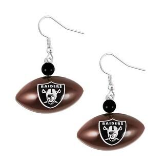 Oakland Raiders Mini Football Dangle Earring