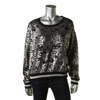 Minkpink Womens Foiled Metallic Pullover Sweater - L