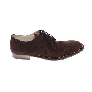 Dolce & Gabbana Brown Leather Laceup Wingtip Shoes - 44