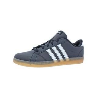 Adidas Boys Baseline K Casual Shoes Big Kid Low Top Black 6 Medium (D) Big Kid - 6 medium (d) big kid