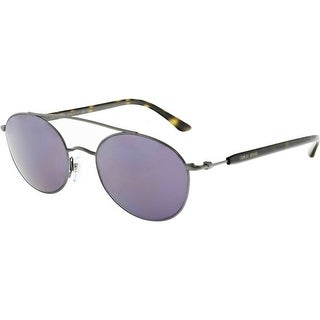 Giorgio Armani Men's Mirrored AR6038-300376-50 Grey Oval Sunglasses