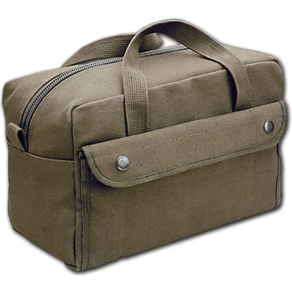 World Famous Canvas Tool Kit Bag, Black, Designed from U.S. Army Issue