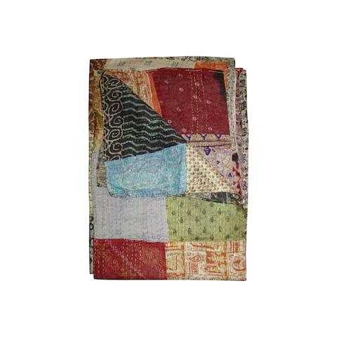 """HomeRoots 60"""" x 90"""" Multicolor/Silk - Throw"""