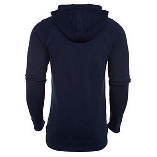 Nike Mens Wings Fleece Po, Midnight Navy/Black, L
