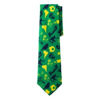 Jacob Alexander Brazil Country Flag Colors Men's Necktie - Brasil Rio Graphic Design