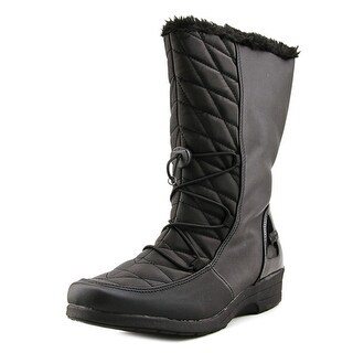 Boston Accent Polly Wide Calf Women Black Snow Boots