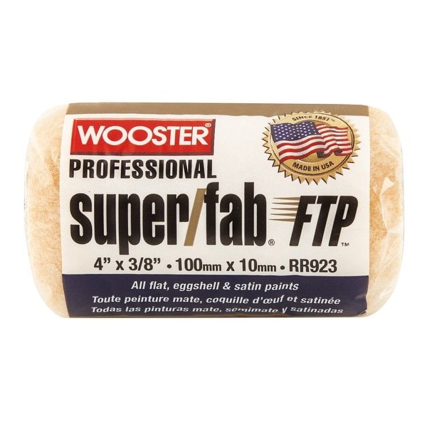 """Wooster RR923-4 Super Fab FTP Roller Cover, 4"""" x 3/8"""""""