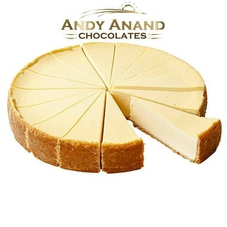 """Andy Anand New York Cheesecake 9"""" (2 lbs) With Greeting Card"""