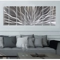 Statements2000 Silver Abstract Etched Metal Wall Art Sculpture by Jon Allen - Galactic Expanse - Thumbnail 8