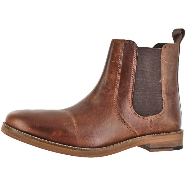 Crevo Men's Denham Leather Fashion Chelsea Boots