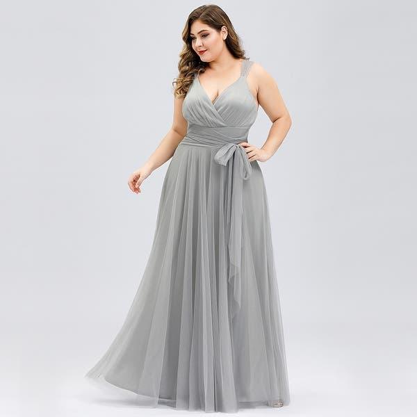 Shop Ever-Pretty Womens Tulle Long Elegant Plus Size ...