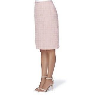 Tahari ASL Petite Textured Boucle Skirt - 14P
