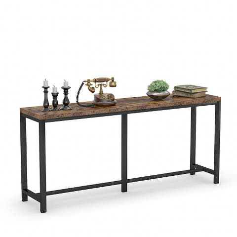 70.9 inch Extra Long Sofa Table Narrow Long Console Table Behind Couch