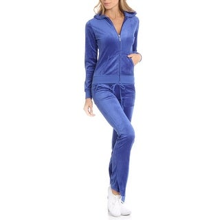 Beta House Womens Velour 2PC Track Suit - M