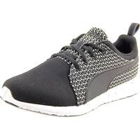 Puma Carson Runner Mesh Women  Round Toe Synthetic Black Running Shoe