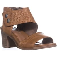 Rockport Hattie 2 Piece Cuff Heeled Sandals, Tan
