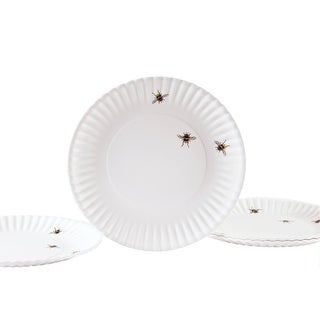 "Melamine Bee Plates - 9"" - Look just like Paper Plates  - Set of 4"