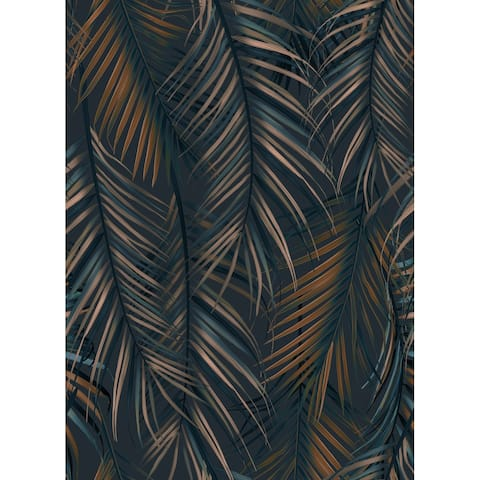 Hawaiian style Fashion Leaves , Removable Wallpaper - 10'ft H x 24''inch W