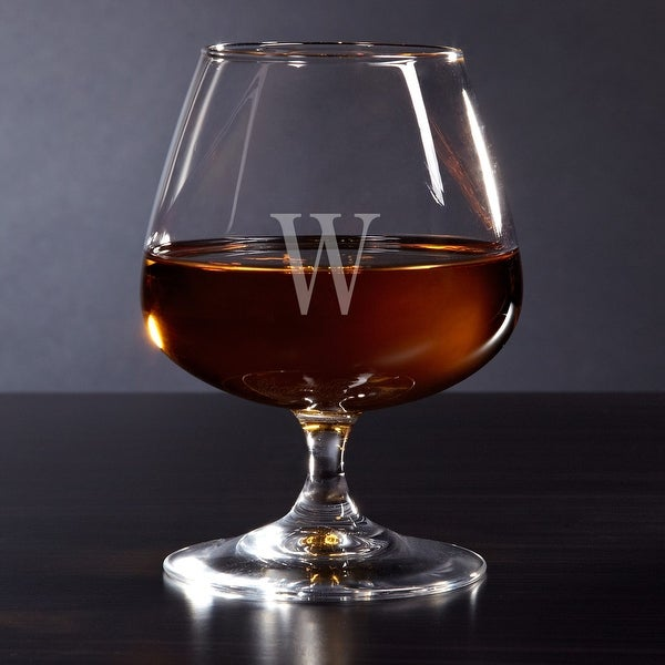 Monogrammed Cognac Brandy Glass