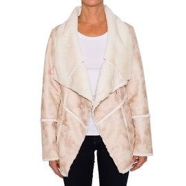Laundry By Shelli Segal Single Button Faux Shearling Jacket
