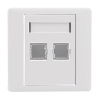 LC Fiber Optical Patch Cord Adapter Mount 2 Sockets Wall Plate Panel