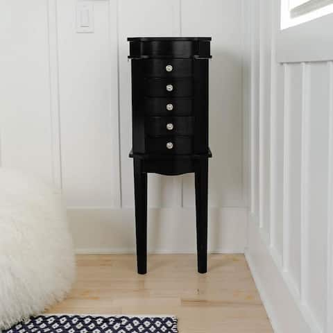 Hives & Honey Meg Black Standing Jewelry Armoire
