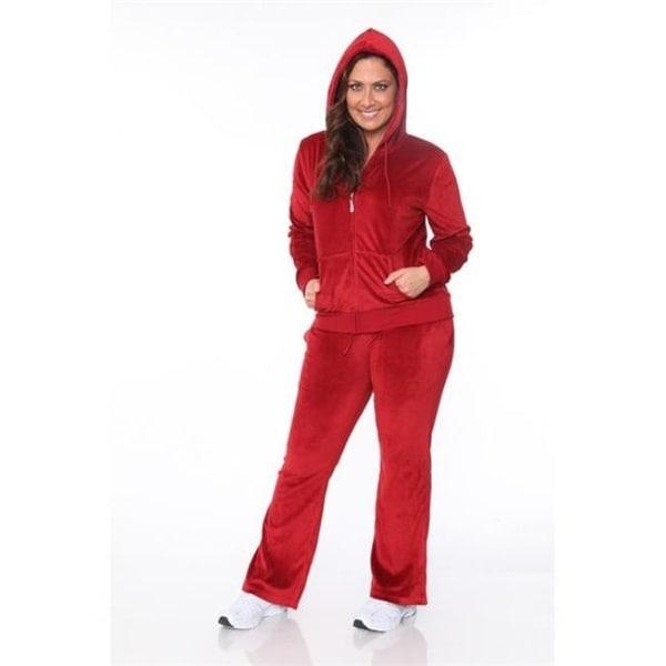 e6f8af1dcac Shop PS2828-09-3XL Velour 2 Piece Womens Plus Size Set