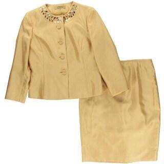 Kasper Womens Shantung 2PC Skirt Suit - 6