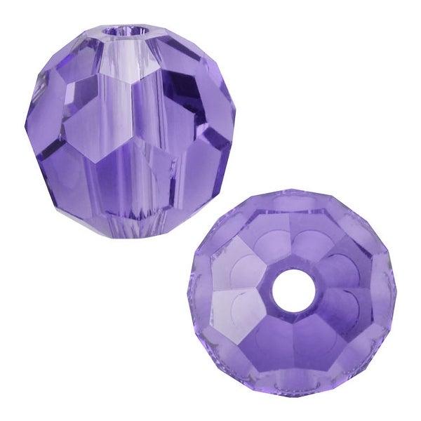 Swarovski Elements Crystal, 5000 Round Beads 6mm, 10 Pieces, Tanzanite