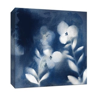 """PTM Images 9-147523  PTM Canvas Collection 12"""" x 12"""" - """"Nature's Indigo I"""" Giclee Flowers Art Print on Canvas"""
