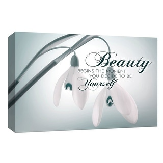 """PTM Images 9-148135  PTM Canvas Collection 8"""" x 10"""" - """"Beauty in Yourself"""" Giclee Flowers Art Print on Canvas"""