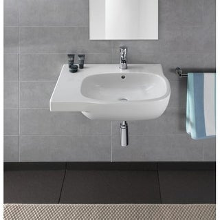 """Bissonnet Moda 65-L Moda 25-5/8"""" Vitreous China Wall Mounted Bathroom Sink with"""
