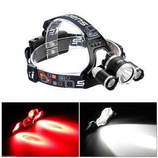 Suaoki Headlamp XML T6+2R2 LED Head Light Torch+ Car/USB Charger+2X18650 Battery