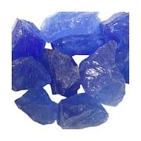 AZ Patio Heaters RGLASS-2-OB Recycled Fire Pit Fire Glass in Ocean Blue, 20lbs - ocean blue