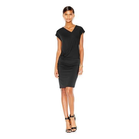 BAR III $79 Womens New 6073 Black V Neck Cap Sleeve Body Con Dress 2XS B+B