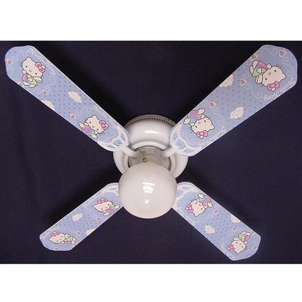 Trendy Hello Kitty Print Blades 42in Ceiling Fan Light Kit - Multi