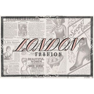 Marmont Hill London Fashion Saturday Evening Post Painting Print on Canvas