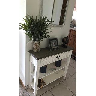The Gray Barn Mead Grove Traditional French Accent White Console Table