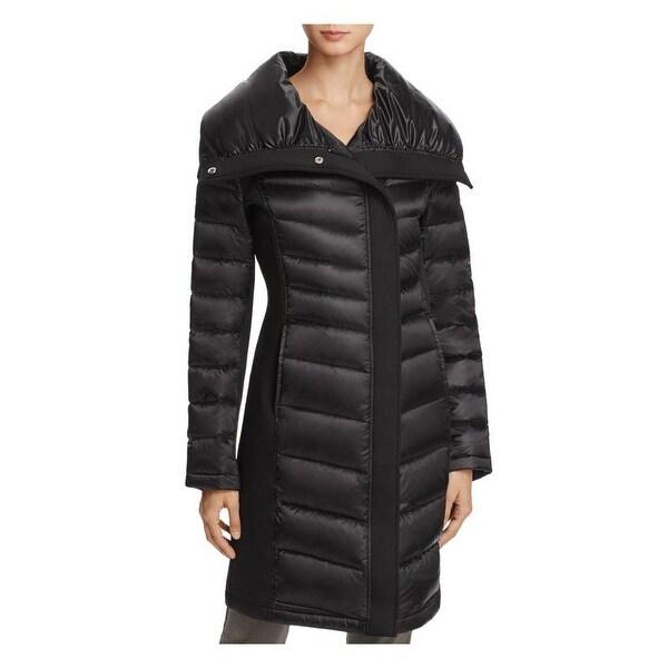 Shop T Tahari Sam Black Puffer Coat Free Shipping Today Overstock