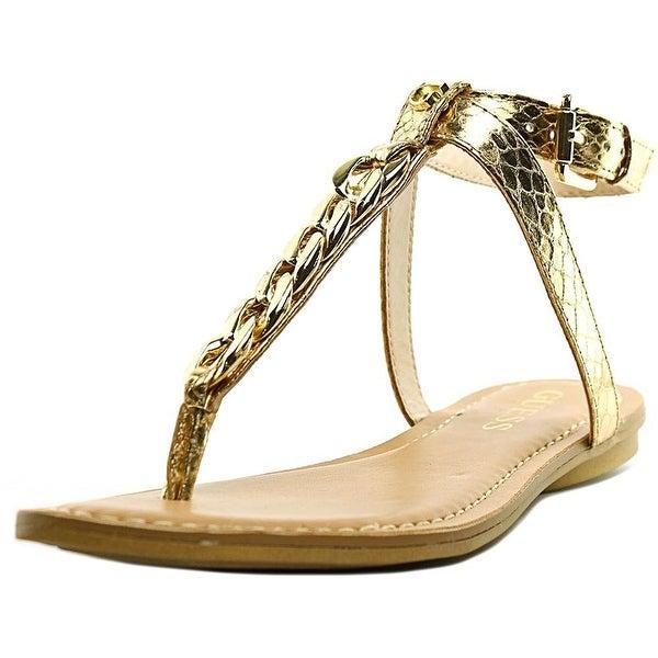 GUESS Womens Gurri Split Toe Casual T-Strap Sandals