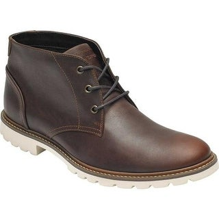 Rockport Men's Sharp & Ready Chukka Boot Saddle Brown Leather