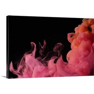 """""""Red Smoke"""" Canvas Wall Art"""