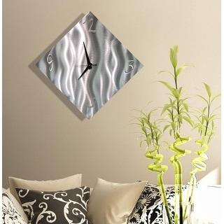 "Statements2000 Modern Metal Wall Clock Art Silver Decor by Jon Allen - Final Countdown - 17"" x 17"""