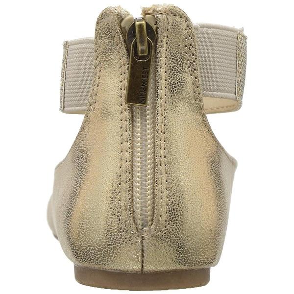 Nine West Little//Big Girl/'s Floycee Rose Gold Ballet Flats Shoes