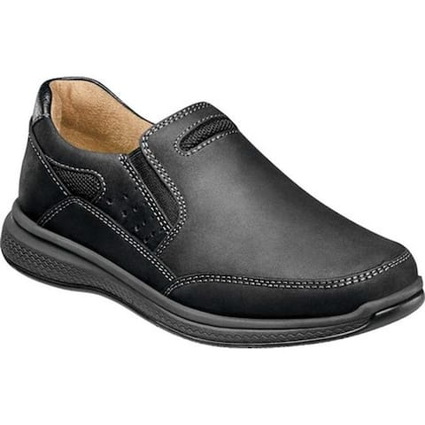 Florsheim Boys' Great Lakes Sport Slip On, Jr. Black Chocolate Leather