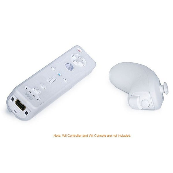 Monoprice Silicone Skin for Wii Remote Control and Nunchuk - White